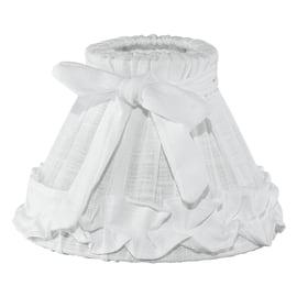 Paralume per lampada da comodino personalizzabile Shabby bianco