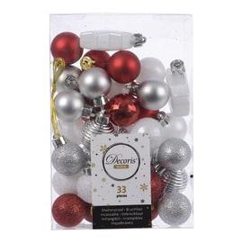 Box pendenti assortiti rossi - argento 4 cm