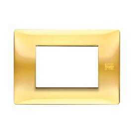 Placca 3 moduli Simon Urmet Nea Flexa oro lucido