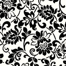 Pellicola adesiva fiori bianco/nero 45 cm x 2 m