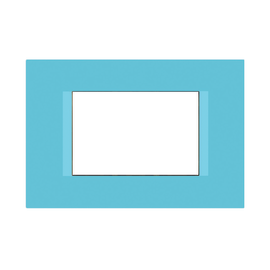 Placca 3 moduli FEB Flat blu n°6