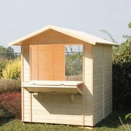 chiosco in legno grezzo Mojito 2,92 m², 1 ribalta