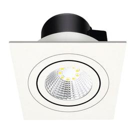 Faretto da incasso Oris bianco LED integrato orientabile rotondo 9 x 9 cm 5 W = 550 Lumen luce calda
