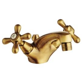 Rubinetto bicomando lavabo Liberty bronzato