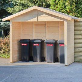 casetta in legno grezzo Polten 2,52 m², spessore 14 mm