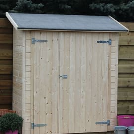 casetta in legno grezzo Linz 0,87 m², spessore 15 mm