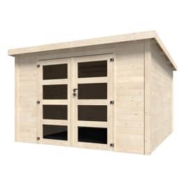 casetta in legno grezzo Oleandro 8,65 m², spessore 28 mm