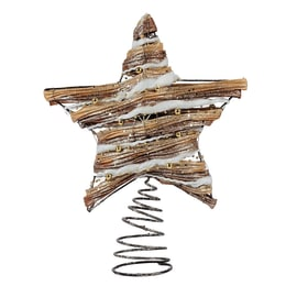 Puntale stella 5 punte marrone 25 x 30 x 7,5 cm