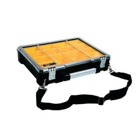 Valigetta porta minuterie Organizer professionale FatMax estraibili, 14 comparti, colore nero/giallo con tracolla