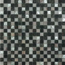 Mosaico Mix quatz 30 x 30 cm bianco, grigio