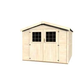 casetta in legno grezzo Turenne 6,98 m², spessore 28 mm