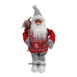Babbo natale con maglione natalizio 63 cm