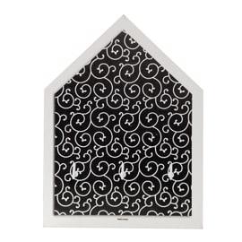 Bacheca porta chiavi Arabesque Nero 4 posti Fantasia 15 x 20 x 3 cm