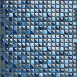 Mosaico Glitter 30 x 30 cm blu