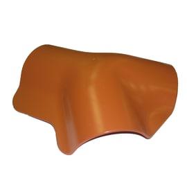 Raccordo 3 vie in polimglass color terracotta, L 35 cm
