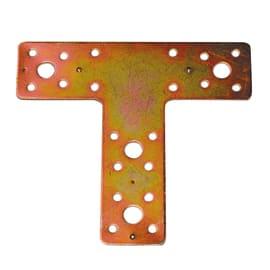 Piastra a T 135 x 150 mm, in acciaio zincato ad alta resistenza alla corrosione