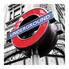 Poster Glitter underground 30 x 30 cm