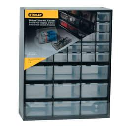 Cassettiera porta minuterie 39 cassetti, colore grigio/trasparente