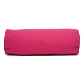 Cuscino Cilindrico rosa piping rosa 60 x 20 cm