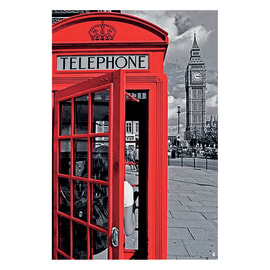 Poster Cabina Londra II 61 x 91,5 cm