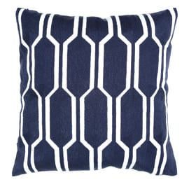 Cuscino Manlio blu retro tinta unita 40 x 40 cm