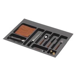 Porta posate e mestoli grigio L 74 x P 49 x H 4,5 cm