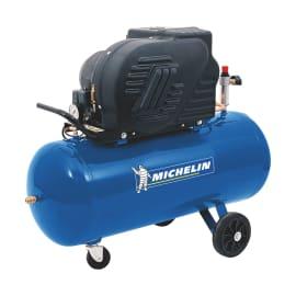 Compressore a cinghia Michelin CCS 100/245 a pistone, silenziato, 2 hp, pressione massima 10 bar