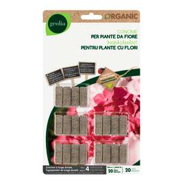Concime per piante fiorite Bastoncini organic Geolia 20 g