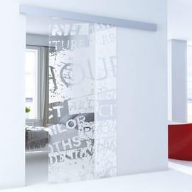 Porta da interno scorrevole Vogue/binario Alu 96 x H 215 cm reversibile