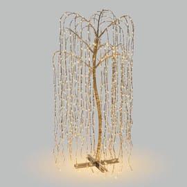 Salice piangente luminoso 1024 minilucciole Led classica gialla 6 m