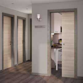 Porta da interno battente Mixage grey grano 80 x H 210 cm reversibile