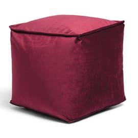 Cuscino pouf Viki bordeaux 45 x 45 cm