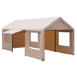 Gazebo Garage copertura beige 3 x 6 m