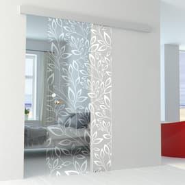 Porta da interno scorrevole Spring/binario Alu 96 x H 215 cm reversibile
