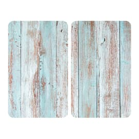Piastre coprifuochi Allstar vetro blue wood 2 pz fantasia L 52 x H 30 cm