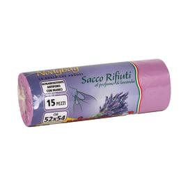 Sacco rifiuti Nodybag lavanda 54 x 52 cm viola 15 pezzi