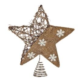 Puntale stella 5 punte marrone 25 x 30 x 8 cm