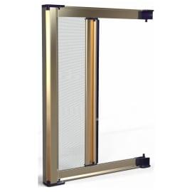 Zanzariera in kit avvolgibile con frizione bronzo L 140 x H 230 cm, spessore telaio 45 mm