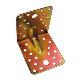 Piastra piegata 100 x 90 mm, in acciaio zincato ad alta resistenza alla corrosione