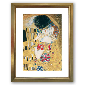 Stampa incorniciata The Kiss 35 x 45 cm