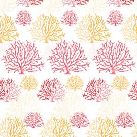 Tenda doccia Coral rossa L 240 x H 200 cm