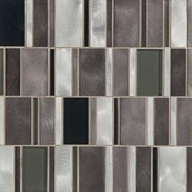 Mosaico Glass aluminum 30 x 30 cm argento