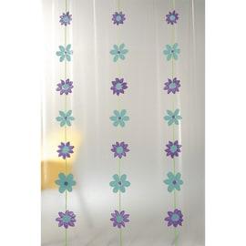 Tenda doccia Bouquet verde L 180 x H 200 cm