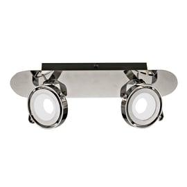 Barra a 2 luci Inspire Xena cromo LED integrato