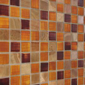 Mosaico Pietrarancio 30 x 30 cm arancione, rosso, marrone