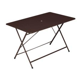 Tavolo pieghevole Cassis, 118 x 76 cm marrone