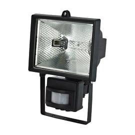Proiettore con sensore di movimento Brenta in alluminio nero R7S MAX500W IP44 INSPIRE