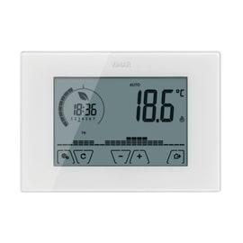 Cronotermostato elettronico touch screen bianco