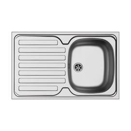 Lavello sovrapposto Dioniso 80 x 50 cm 1 vasca con gocciolatoio