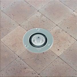 Faretto fisso da incasso tondo Microfloor LED integrato in plastica, acciaio, 6W 600LM IP67